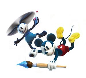 Oswald and mickey flying