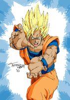 Goku ready attack