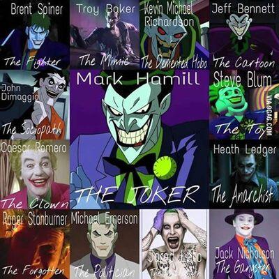 Joker's MANY faces