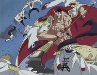 Whitebeard scythe attack