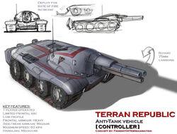 Terran republic controller at vehicle by hansime-d6dvpf5