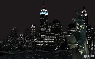Liberty city at night