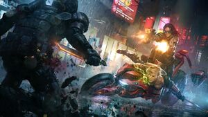 Futuristic-cyberpunk-last-man-standing-killbook-of-a-bounty-hunter