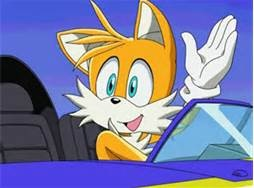 Tails waves in plane