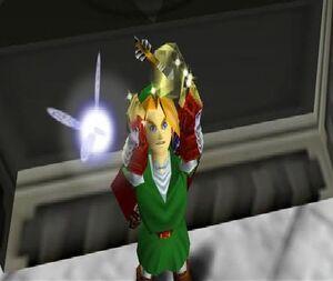 Link with light arrow