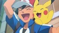 Ash and pikachu cheer
