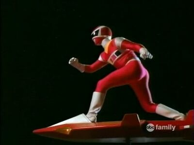 Red Ranger and Galaxy Glider