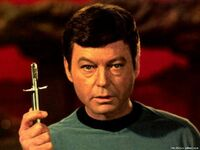Dr mccoy with knife