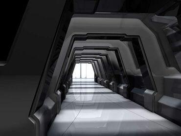 Sci fi hallway by cozmonator