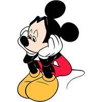 Mickey sad