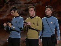 Spock kirk and mccoy half view