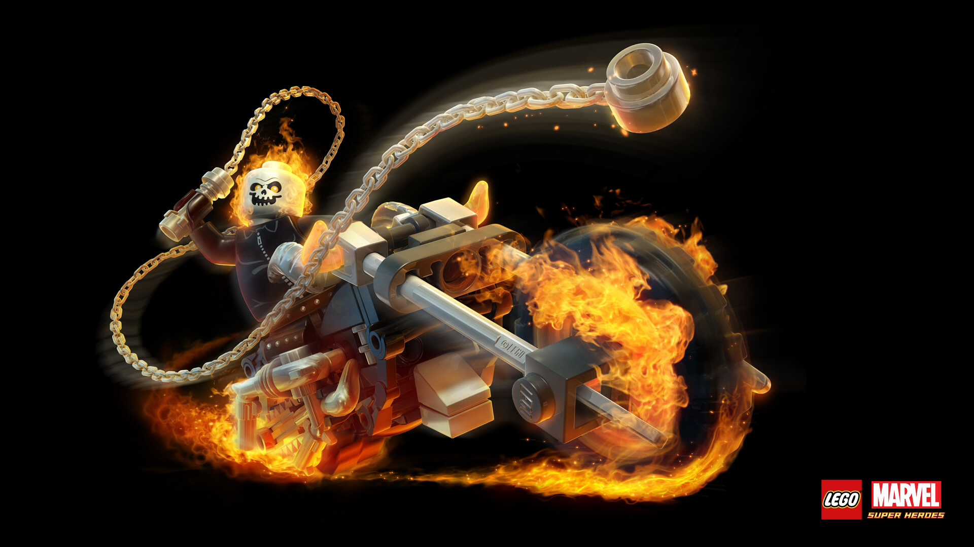 Ghost Rider S Motorcycle Lego Marvel Superheroes Wiki Fandom