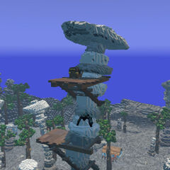 Item Chest on a platform on a boulder stack.]]