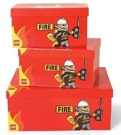 SD655red Storage Boxes Modular Fire Red