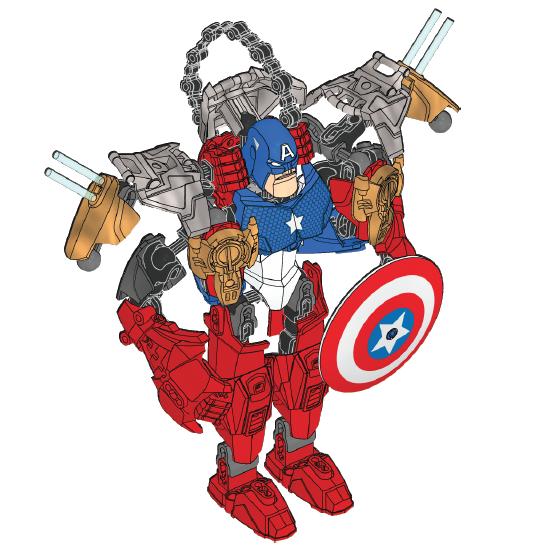 captain america lego set instructions