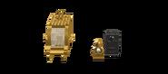 Gold Bolt's Gold Carbonite Transport, Showing Figures