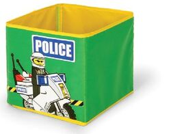 SD336green Textile Toy Bin Police Green