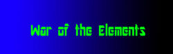 War of the Elements Logo