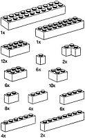9933 Basic Bricks, Red