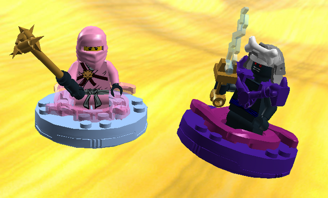 File:Pink Zane vs power armour garmadon.png