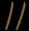 Two Golden Katanas