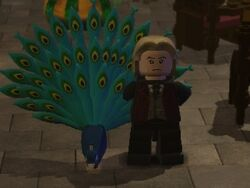 Lucius Malfoy's peacock