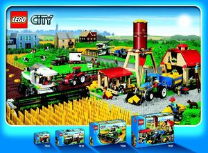 Lego City farm sets 2009