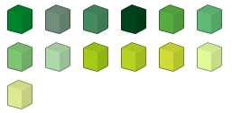 File:Green Colour Chart.png