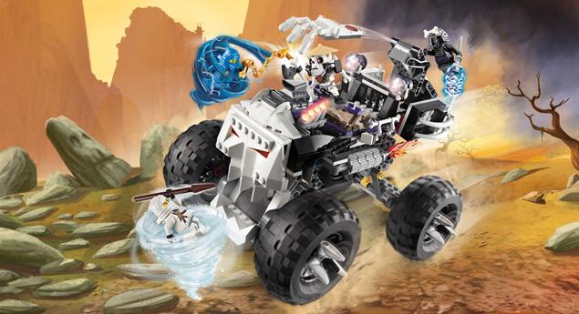 2506 le 4x4 squelette wiki lego fandom powered by wikia - Ninjago les 4 armes d or ...