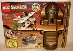5909-Treasure Raiders set with Mummy Storage Container