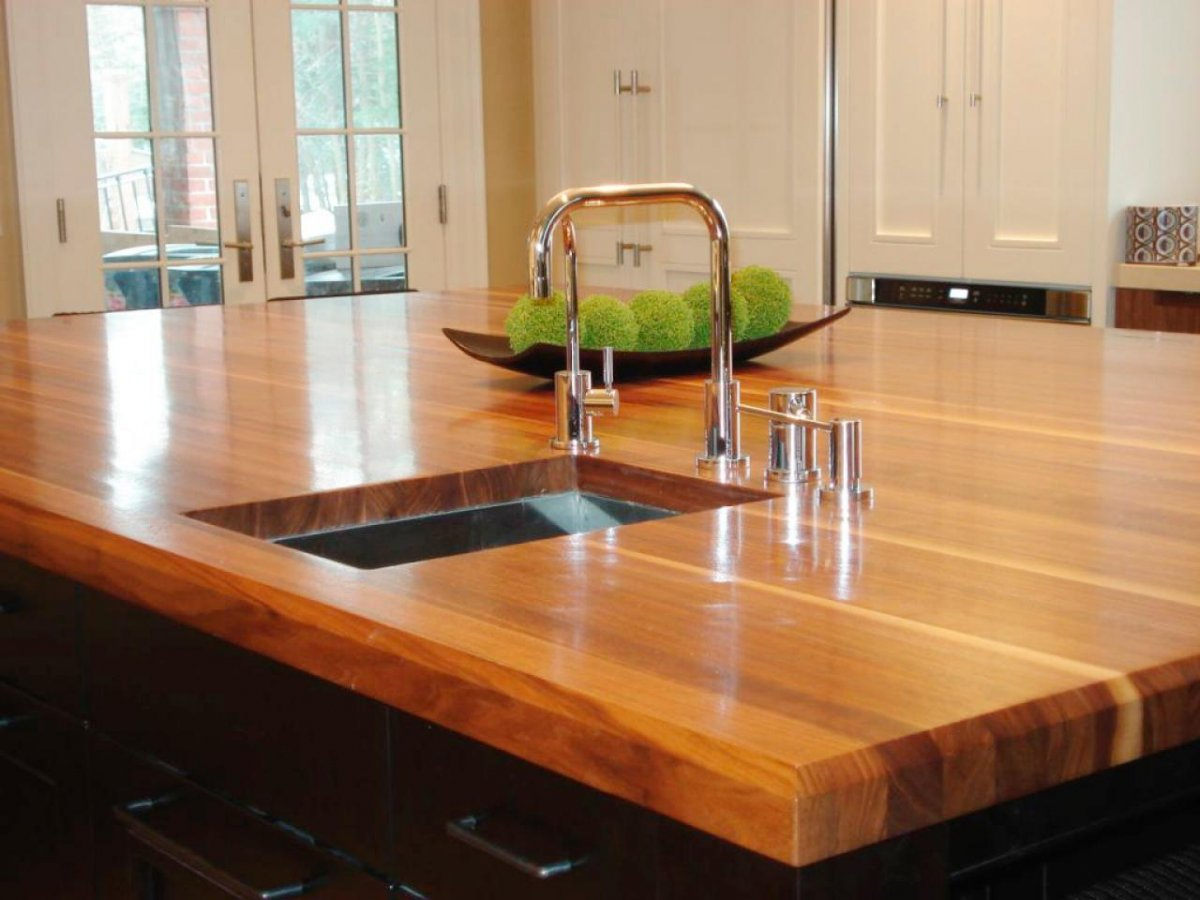 Amazing Laminate Wood Countertops Part   8: Image Contemporary Style  Kitchen Lowes Butcher Block Countertops. Faux Wood Countertop Trendy  Laminate ...