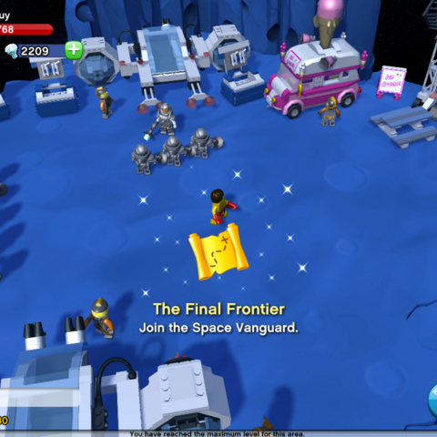 Location of the Space Vanguard in Space Colony.
