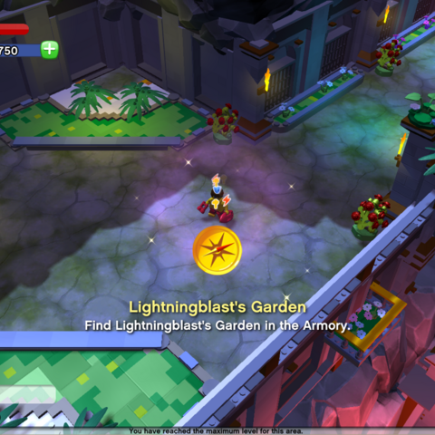 Location of Lightningblast's Garden in the Armory.