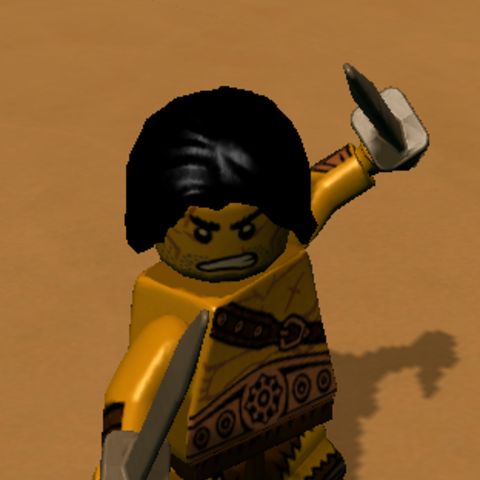 The Barbarian in-game