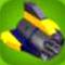 Classic Yellow Rocket Engine