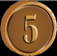 Pre-Alpha Bronze Coin ''5''