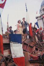 Marius & Cossette on large barricade 1848