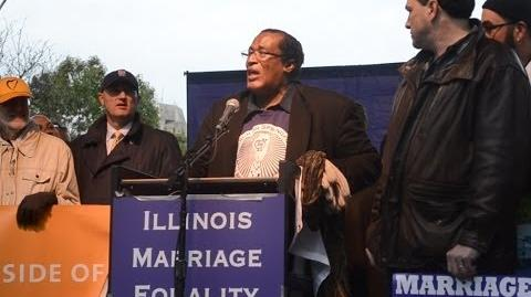 Marc Loveless Calls Out Rev. James Meeks & Bishop Larry Trotter At Illinois Marriage Equality March