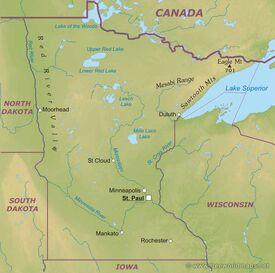 Minnesota-map