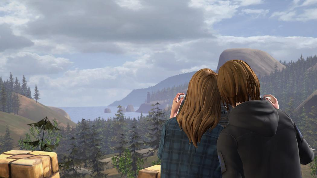 Chloe and Rachel at the Overlook Before the Storm