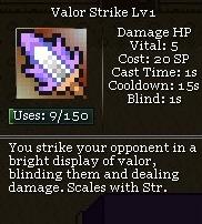 Valor strike