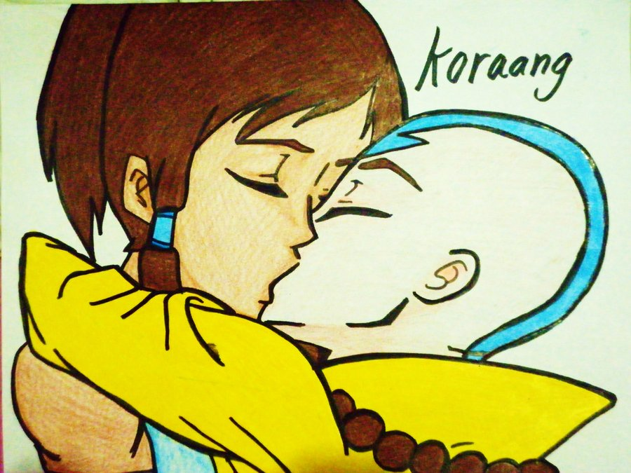 Korra and aang kissing by yoursecretfucker-d4r2wko