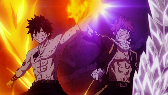 File:Gray and Natsu protect each other.png