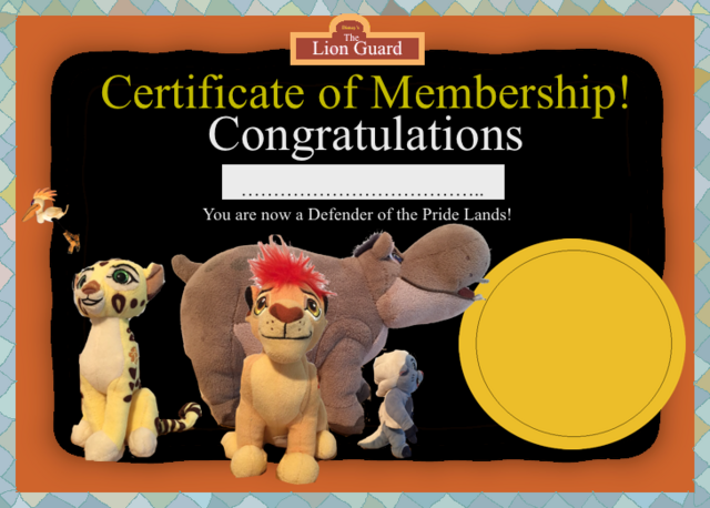 File:The Lion Guard Certificate of Membership (Fan-made).png