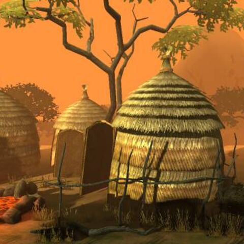 The background of The Savannah in LittleBigPlanet