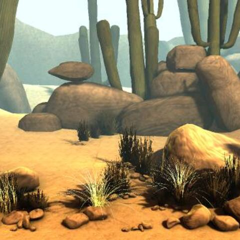 The background of The Canyons in LittleBigPlanet