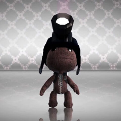 Sackboy with the Creatinator on.