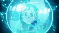 Akko gazing at the Fountain