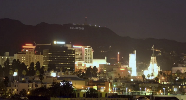 File:Hollywood Sign by Night.png