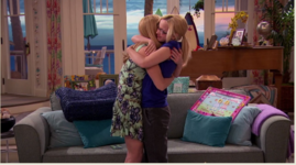 Liv and Maddie Hugging